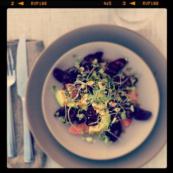 Beet Pistachio Avocado Salad