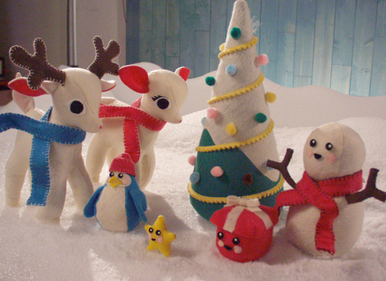 felted Christmas characters