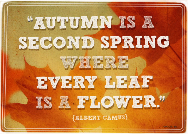 Autumn Quote: Autumn is a second spring where every leaf is a flower.