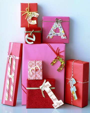 christmas monogrammed gift tags