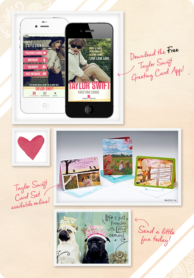 Taylor Swift greeting cards on StayInspired365.com