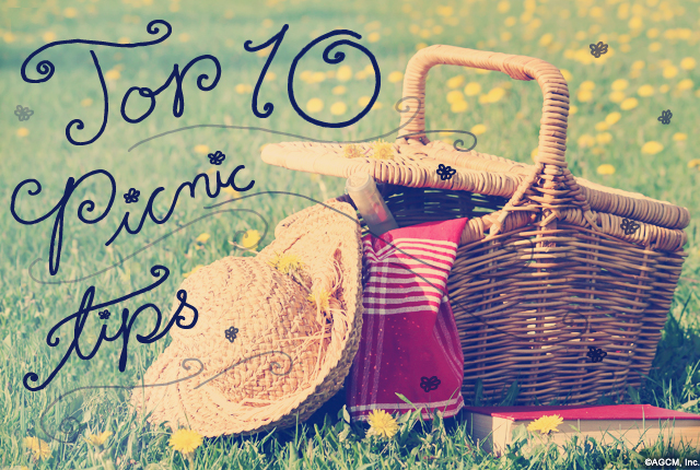 Top 10 Picnic Tips from stayinspired365.com