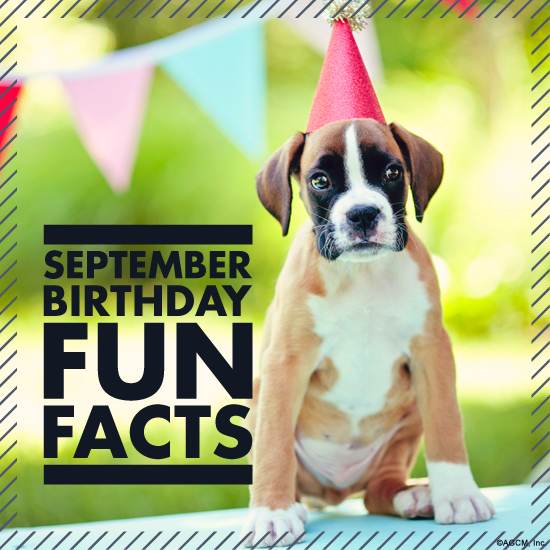 September Birthday Fun Facts from StayInspired365.com