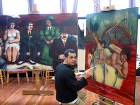 Augusto Bordelois in the studio