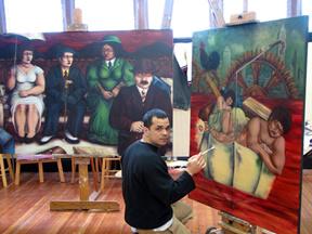 Augusto Bordelois in the studio