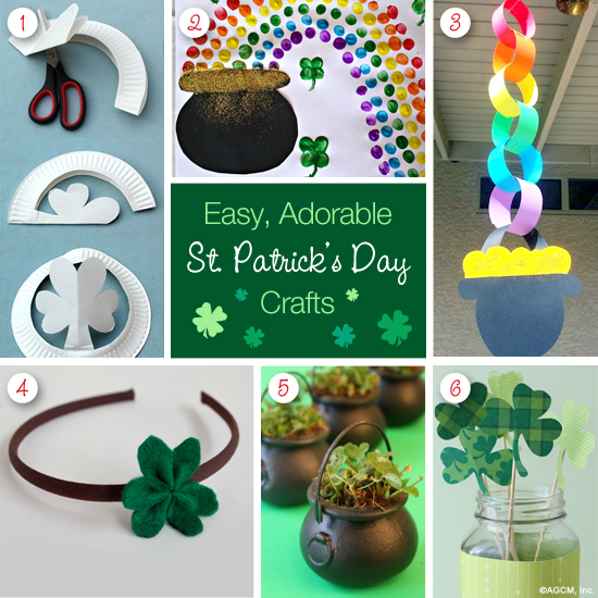 Easy, Adorable St. Patrick's Day Crafts